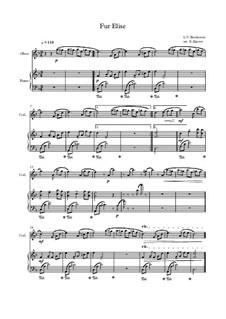 10 Easy Classical Pieces for Oboe & Piano: Für Elise by Franz Schubert, Johann Strauss (Sohn), Edward Elgar, Jacques Offenbach, Ludwig van Beethoven, Edvard Grieg, Julius Benedict, Mildred Hill, Eduardo di Capua