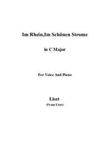 Im Rhein, in schönen Strome, S.272: C-Dur by Franz Liszt