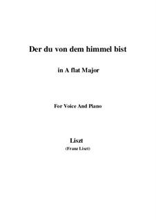 Der du von dem Himmel bist, S.279: Version III (A flat Major) by Franz Liszt