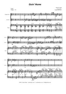 Teil II (Largo): Duet for soprano and alto saxophone by Antonín Dvořák