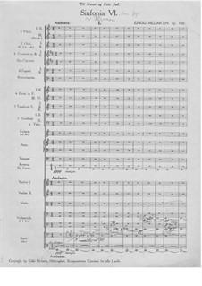 Sinfonie Nr.6, Op.100: Teil I by Erkki Melartin