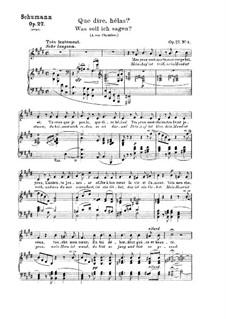 Lieder und Gesänge, Op.27: Nr.3 Was soll ich sagen by Robert Schumann