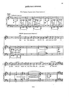 Fragmente: Akt II für Stimmen und Klavier by Modest Mussorgski