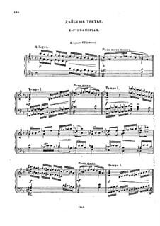 Fragmente: Akt III für Stimmen und Klavier by Modest Mussorgski