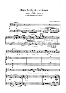 Christus am Ölberge, Op.85: Meine Seele ist erschuttert by Ludwig van Beethoven