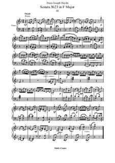 Sonate für Klavier Nr.38 in F-Dur, Hob.XVI/23: Teil III by Joseph Haydn