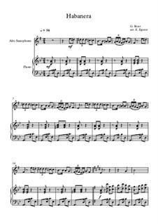 10 Easy Classical Pieces for Alto Saxophone and Piano Vol. 2: Habanera by Johann Sebastian Bach, Henry Purcell, Georges Bizet, Ludwig van Beethoven, Edvard Grieg, Alexander Porfiryevich Borodin, Pjotr Tschaikowski, Franz Xaver Gruber