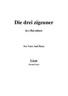 Die drei Zigeuner, S.320: E flat minor by Franz Liszt