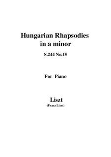 Nr.15 in a-Moll, S.244: Für Klavier by Franz Liszt