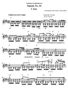 Sonate für Klavier Nr.31, Op.110: Teil 3, für Gitarre by Ludwig van Beethoven