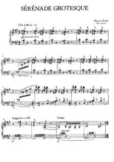 Sérénade grotesque for Piano, M.5: Sérénade grotesque for Piano by Maurice Ravel