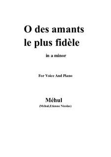 Ariodant: O des amants le plus fidèle by Étienne Méhul