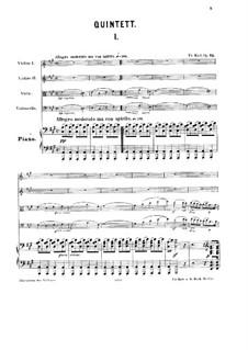 Klavierquintett Nr.1, Op.75: Vollpartitur by Friedrich Kiel