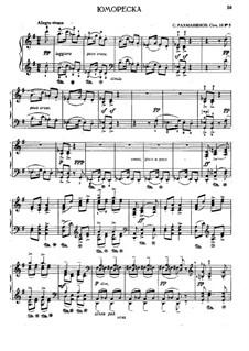 Sept Morceaux de Salon, Op.10: No.5 Humoresque by Sergei Rachmaninoff