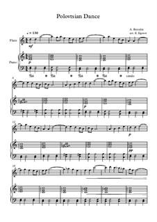 10 Easy Classical Pieces for Flute and Piano Vol. 2: Polovtsian Dance by Johann Sebastian Bach, Henry Purcell, Georges Bizet, Ludwig van Beethoven, Edvard Grieg, Alexander Porfiryevich Borodin, Pjotr Tschaikowski, Franz Xaver Gruber