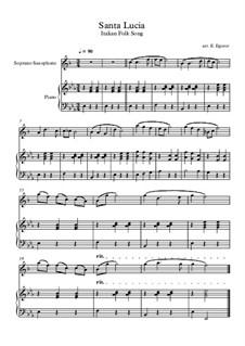 Santa Lucia: For soprano saxophone and piano by folklore