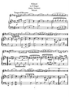 Menuett für Flöte und Klavier in D-Dur: Partitur by Wolfgang Amadeus Mozart