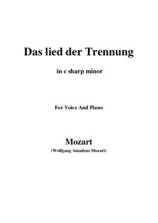 Trennungslied, K.519: C sharp minor by Wolfgang Amadeus Mozart