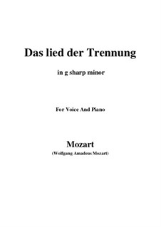 Trennungslied, K.519: G sharp minor by Wolfgang Amadeus Mozart