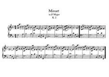 Menuett für Klavier in F-Dur, K.2: Für einen Interpreten by Wolfgang Amadeus Mozart