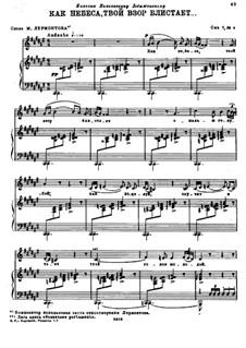 Vier Romanzen, Op.7: No.4 Thy Glance is Radiant as the Heavens by Nikolai Rimsky-Korsakov