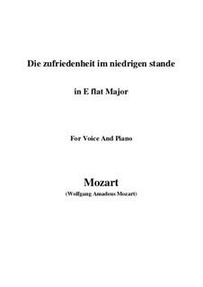 Die Zufriedenheit im niedrigen Stande, K.151: E flat Major by Wolfgang Amadeus Mozart
