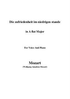 Die Zufriedenheit im niedrigen Stande, K.151: A flat Major by Wolfgang Amadeus Mozart