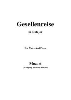 Lied zur Gesellenreise, K.468: B Major by Wolfgang Amadeus Mozart