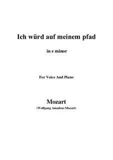 An die Hoffnung, K.390 (340c): E minor by Wolfgang Amadeus Mozart