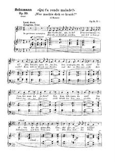 Zwölf Gedichte für Stimme und Klavier, Op.35: Nr.11 Wer machte dich so krank by Robert Schumann