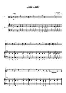10 Easy Classical Pieces for Viola and Piano Vol. 2: Silent Night by Johann Sebastian Bach, Henry Purcell, Georges Bizet, Ludwig van Beethoven, Edvard Grieg, Alexander Porfiryevich Borodin, Pjotr Tschaikowski, Franz Xaver Gruber