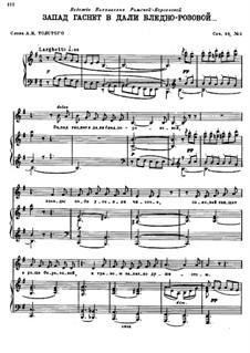 Vier Romanzen, Op.39: No.2 The West Dies Out in the Pallid Rose by Nikolai Rimsky-Korsakov