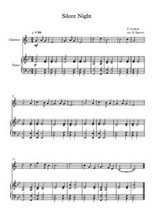 10 Easy Classical Pieces for Clarinet and Piano Vol. 2: Silent Night by Johann Sebastian Bach, Henry Purcell, Georges Bizet, Ludwig van Beethoven, Edvard Grieg, Alexander Porfiryevich Borodin, Pjotr Tschaikowski, Franz Xaver Gruber