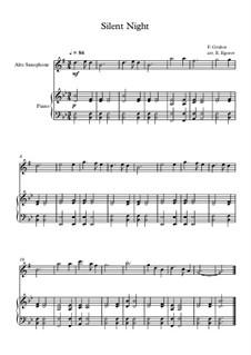 10 Easy Classical Pieces for Alto Saxophone and Piano Vol. 2: Silent Night by Johann Sebastian Bach, Henry Purcell, Georges Bizet, Ludwig van Beethoven, Edvard Grieg, Alexander Porfiryevich Borodin, Pjotr Tschaikowski, Franz Xaver Gruber