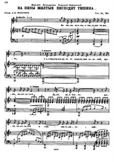 Vier Romanzen, Op.39: No.3 Silence Descends on the Golden Cornfields by Nikolai Rimsky-Korsakov