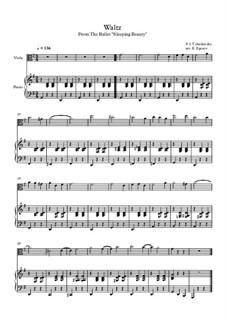 10 Easy Classical Pieces for Viola and Piano Vol. 2: Waltz (Sleeping Beauty) by Johann Sebastian Bach, Henry Purcell, Georges Bizet, Ludwig van Beethoven, Edvard Grieg, Alexander Porfiryevich Borodin, Pjotr Tschaikowski, Franz Xaver Gruber
