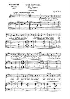 Zwölf Gedichte für Stimme und Klavier, Op.35: Nr.12 Alte Laute by Robert Schumann