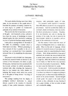 Method for Violin: Für einen Interpreten by Charles-Auguste de Beriot