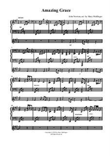 Erstaunliche Gnade: Für Violine und Klavier by folklore