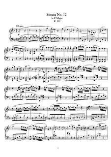 Sonate für Klavier Nr.12 in F-Dur, K.332: Für einen Interpreten by Wolfgang Amadeus Mozart
