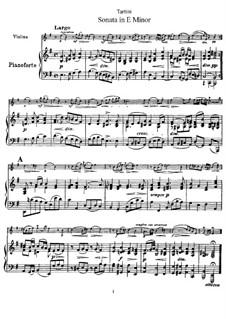 Sonate für Violine und Klavier in e-Moll: Partitur by Giuseppe Tartini