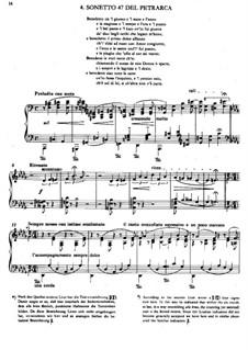 Zweites Jahr. Italien, S.161: No.4 Sonetto 47 del Petrarca by Franz Liszt