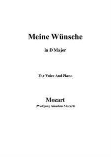 Ich möchte wohl der Kaiser sein, K.539: D Major by Wolfgang Amadeus Mozart