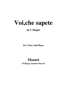 Voi, che sapete: C-Dur by Wolfgang Amadeus Mozart