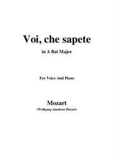 Voi, che sapete: A flat Major by Wolfgang Amadeus Mozart