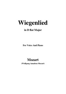 Wiegenlied, K.350: D flat Major by Wolfgang Amadeus Mozart