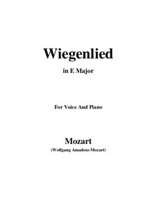 Wiegenlied, K.350: E Major by Wolfgang Amadeus Mozart