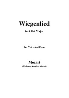 Wiegenlied, K.350: A flat Major by Wolfgang Amadeus Mozart