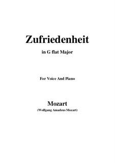 Die Zufriedenheit, K.349: G flat Major by Wolfgang Amadeus Mozart