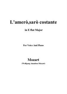 Der König als Hirte, K.208: L'amerò, sarò costante by Wolfgang Amadeus Mozart